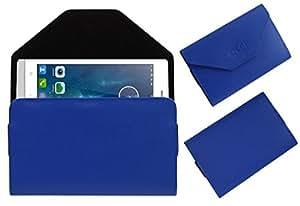 Acm Premium Pouch Case For Karbonn A19+ Plus Flip Flap Cover Holder Blue