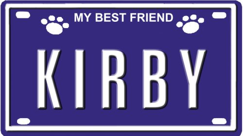 "Kirby Dog Name Plate For Dog House. Over 400 Names Availaible. Type In Name"" Dog Plate In Search. Your Dog Name Will Show Up."" front-115016"