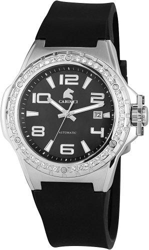 Carucci Watches CA2213BK - Orologio da polso da donna, cinturino in caucciù colore nero
