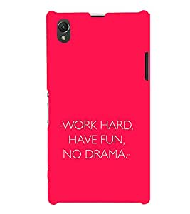 EPICCASE Pink simplicity Mobile Back Case Cover For Sony Xperia Z1 (Designer Case)