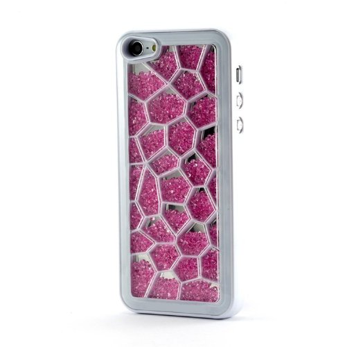 Great Sale Matek(TM) Elegant Super Bling Rainbow Swarovski Element Crystal Case Cover for iPhone 5