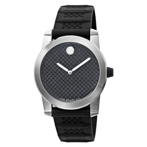 MOVADO Watch:Movado Men's 606257 Vizio Black Rubber and Carbon Fiber Strap Anthracite Dial Watch Images