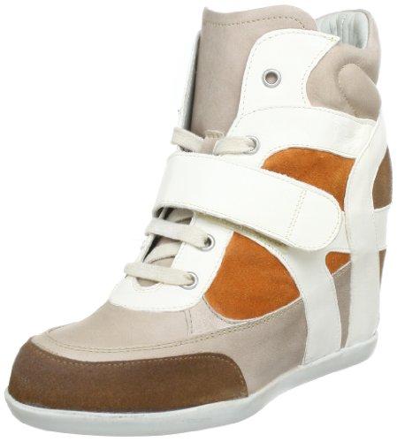 Manas PAT 131D2401KEKE, Sneaker col tacco donna, Multicolore (Mehrfarbig (NOCCIOLA+SASSO+ARANCIO+AVORIO)), 40
