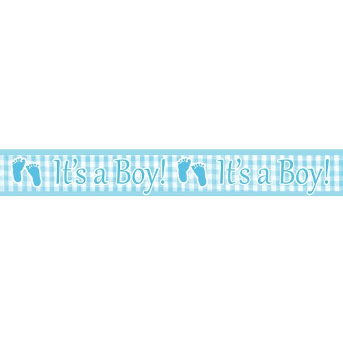 PLAID BABY BOY Banner Foil 6'