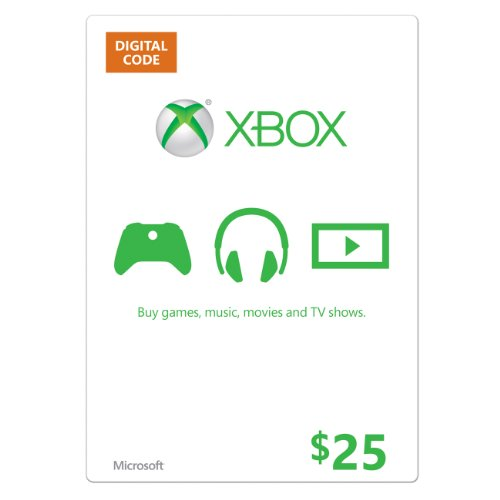 Xbox $25 Gift Card - Digital Code (Xbox Live Digital Gift Card compare prices)