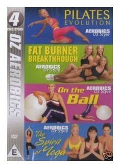 PILATE AEROBICS OZ STYLE 4 DVD's IN ONE.