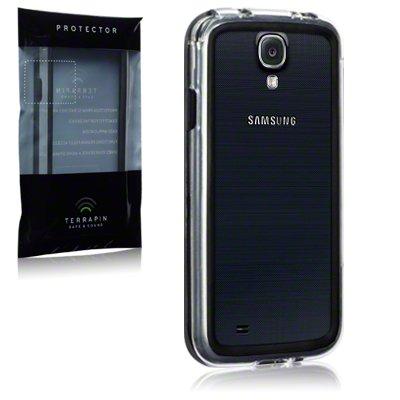 Samsung i9500 Galaxy S4 Bumper Case By Terrapin - Clear/Black (136-002-013)