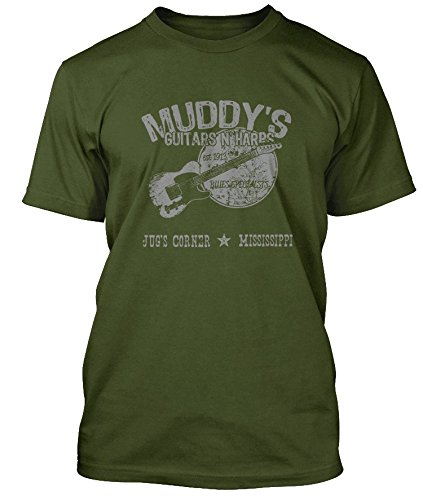 muddy-waters-inspired-guitars-n-harps-blues-t-shirt-hommes-xx-large-vert-olive