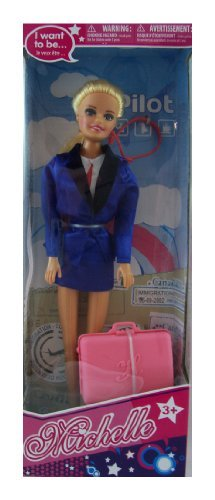 "Michelle 11.5"" Doll - I Want to Be a Pilot"