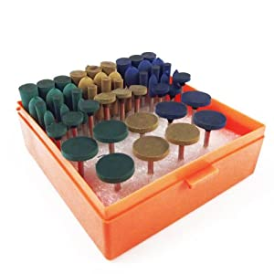 54pc Universal Rotary Assorted Grit Rubber Polish Accessory Tool Kit For Dremel