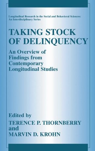 Taking Stock Of Delinquency: An Overview Of Findings From Contemporary Longitudinal Studies (Longitudinal Research In The Social And Behavioral Sciences: An Interdisciplinary Series) front-864767