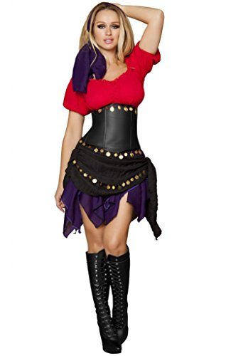 Sexy Slimming Renaissance Fair Gypsy Halloween Costume