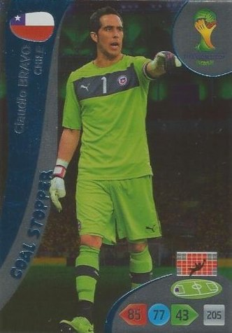 FIFA World Cup 2014 Brazil Adrenalyn XL Claudio Bravo Goal Stopper