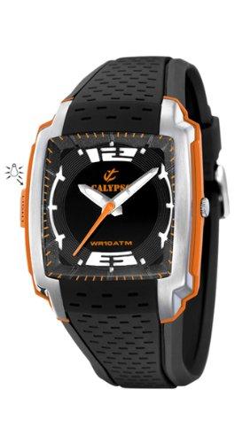 Calypso Men's K5537/6 Plastico Black Dial Red Accents Watch