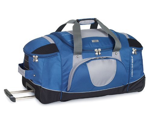 High Sierra A.T. Gear Ultimate Access 30″ Wheeled Duffle with Backpack Straps in Blue Yonder/Tungsten/Black
