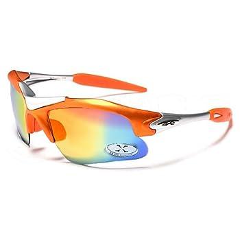 X-Loop Lunettes de Soleil - Sport - Cyclisme - Ski - Conduite - Motard / Mod. 1400 Orange / Taille Unique Adulte / Protection 100% UV400