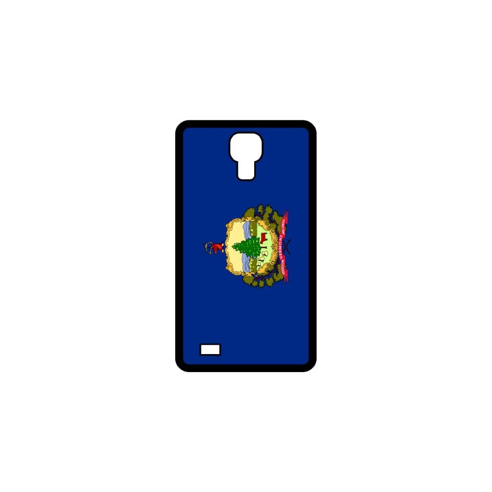 Vermont VT State Flag Black Samsung Galaxy S4 i9500   Cell Phone Case   Cover