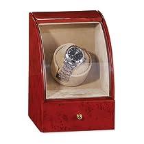 Dark Burlwood Gloss Finish Single Watch Winder