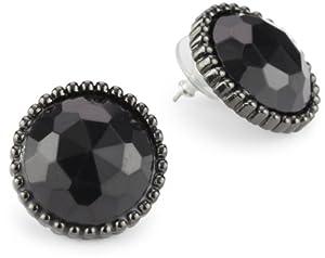 1928 Jewelry Bonne Nuit Big Button Earrings