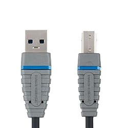 Bandridge Blue USB 3.0 A-B Device Cable USB 3.0-A M-USB-B M Power 2.0m (BCL5102)