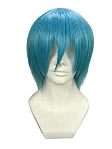 """12"""" Layered Royal Blue Cosplay Wig -- Soul Eater Black Star"""