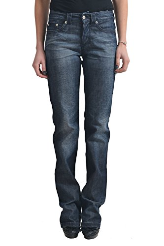 Versace Jeans Couture Women's Dark Gray Straight Leg Jeans US 26 IT 40