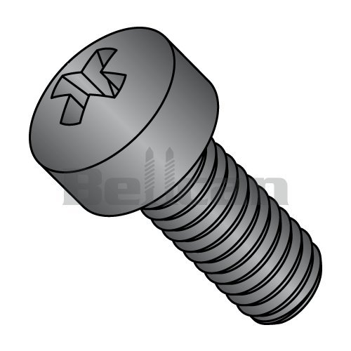 Stainless Steel Machine Screw 3//16 Length #6-32 Threads Plain Finish Pack of 100 Binding Head Slotted Drive