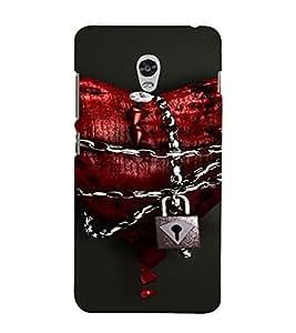 PrintVisa Locked Heart Chain Design 3D Hard Polycarbonate Designer Back Case Cover for Lenovo Vibe P1