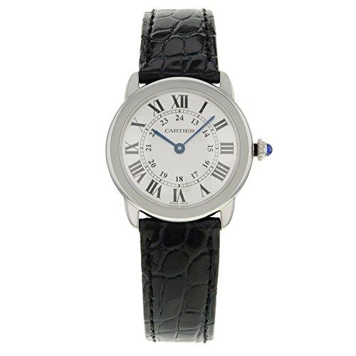 Cartier Ronde Solo W6700155 acero inoxidable para hombre reloj de cuarzo