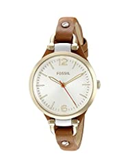 Fossil Georgia Analog Silver Dial Women's Watch - ES3565