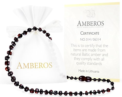 Amber-Teething-Necklace-for-Babies-Unisex-Anti-Flammatory-Drooling-Teething-Pain-Reduce-Properties-Certificated-Natural-Oval-Baltic-Jewelry-with-the-Highest-Quality-Guaranteed