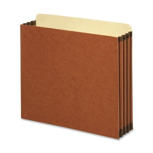 Globe-Weis FC1524E 3 1/2 inch Expansion File Cabinet Pocket Straight Letter Redrope 10 Pack