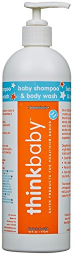 THINKBABY Natural Baby Shampoo and Body Wash - Pump-Papaya- 16oz