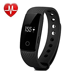 Fitness Tracker with Heart Rate Monitor,Pashion Bluetooth Smart Bracelet Smart Band Touch Screen Healthy Smart Watch Wristband for Android iOS Smartphone