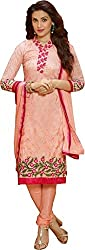 Creative Collection Georgette Embroidered Salwar Suit Dupatta Material (Un-stitched)
