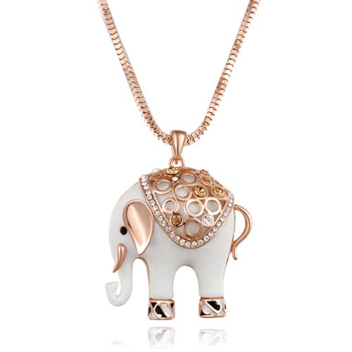 Chaomingzhen 18k Gold Plated Charm Fat Cute Elephant