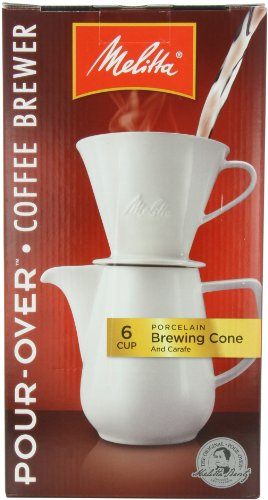 Melitta Coffee Maker Home Hardware : Melitta Coffee Maker, Porcelain 6 Cup Pour- Over Brewer Home Garden Kitchen Dining Barware Decanters