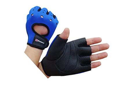 Weight lifting training gym gloves 100% tight fitting Blue and Black by the British Bulldog Store - Universal Size (S/M/L) from Camewin for The British Bulldog Store