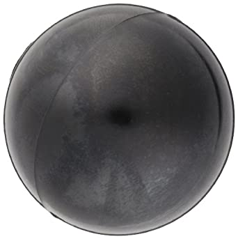 "DimcoGray Black Phenolic Ball Knob Female, Brass Insert: 8-32"" Thread x 5/16"" Depth, 3/4"" Diameter x 45/64"" Height x 3/8 Hub Dia (Pack of 10)"