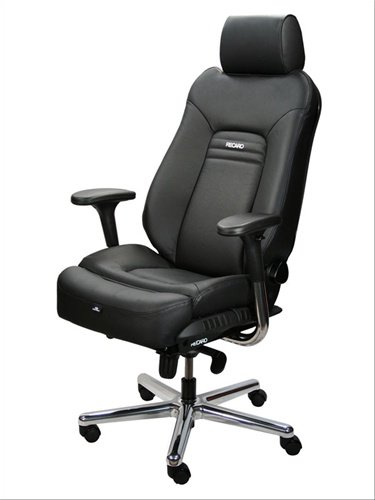Recaro Advantage Titan Leather Office Chair - Dark Blue/Black front-825168
