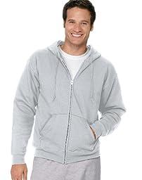 Hanes Men\'s ComfortBlend Full-Zip Hood 7.8 oz Ash Small