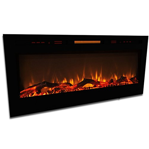 Elite Flame 50 Fusion Log Built In Smokeless Wall Mounted Electric Fireplace Lowes