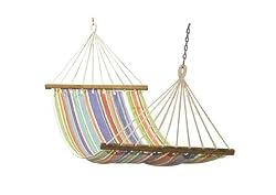 Hangit 11'FT Cotton Fabric Hammock Swing - Multi Stripe