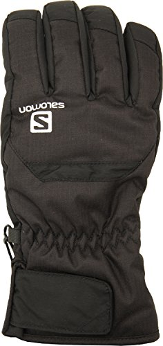 Salomon L36377700 Guanti da sci Resistenti all'acqua Uomo, Frontside-Skiing-Gloves, Taglio Comfort, Advanced Skin Warm, Softshell, CRUISE M, Taglia: L, Nero