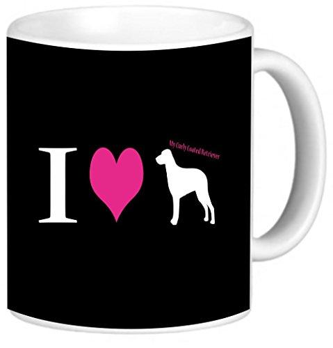 Rikki Knight I Love My Curly Coated Retriever Dog Photo Quality Ceramic Coffee Mug, 11-Ounce