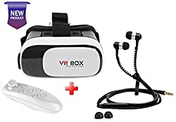 Link Plus VR Box With Bluetooth Remote And Zipper Handsfree Combo Kit For Motorola Moto X Play