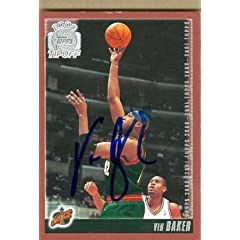 Vin Baker Autographed Hand Signed Basketball Card (Seattle Sonics) 2000 Topps Tip Off...