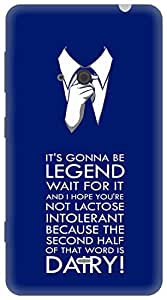 The Racoon Lean Blue Legend Dairy hard plastic printed back case for Nokia Lumia 625