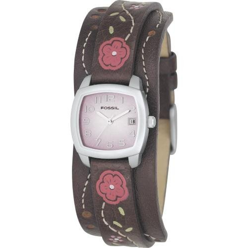 Fossil Analog Pink Dial Watch