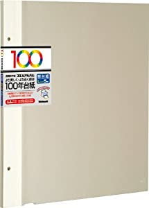 ナカバヤシ 100年台紙 フリーアルバム替台紙 Lサイズ アイボリー アH-LFR-5-V